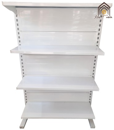 قفسه فلزی وسط دوطرفه طوس مشبک