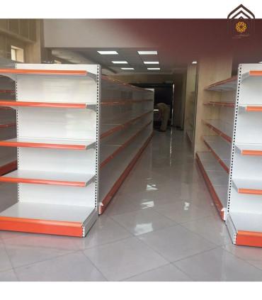 قفسه فلزی سرلاین فروشگاهی طوس مشبک