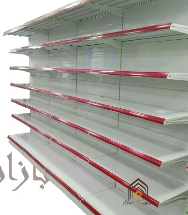 شلف یکطرفه فروشگاه هایپرمارکت طوس مشبک